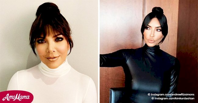Kris Jenner reveals her new hairstyle, and she looks like daughter Kim's twin sister
