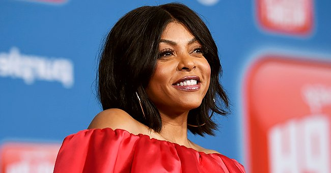 Taraji P Henson Steals Hearts in IG Posts Rocking Gray Suit & Shorts Combo with Fiery Red Hair