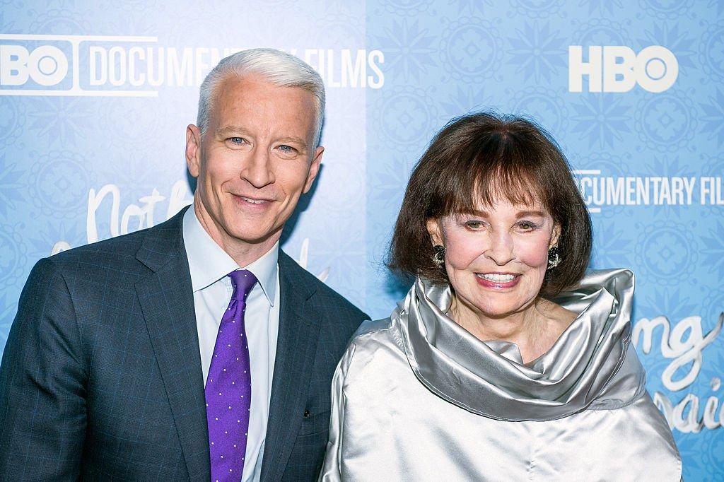 """Anderson Cooper and Gloria Vanderbilt attend the """"Nothing Left Unsaid"""" premiere, April 2016   Source: Getty Images"""
