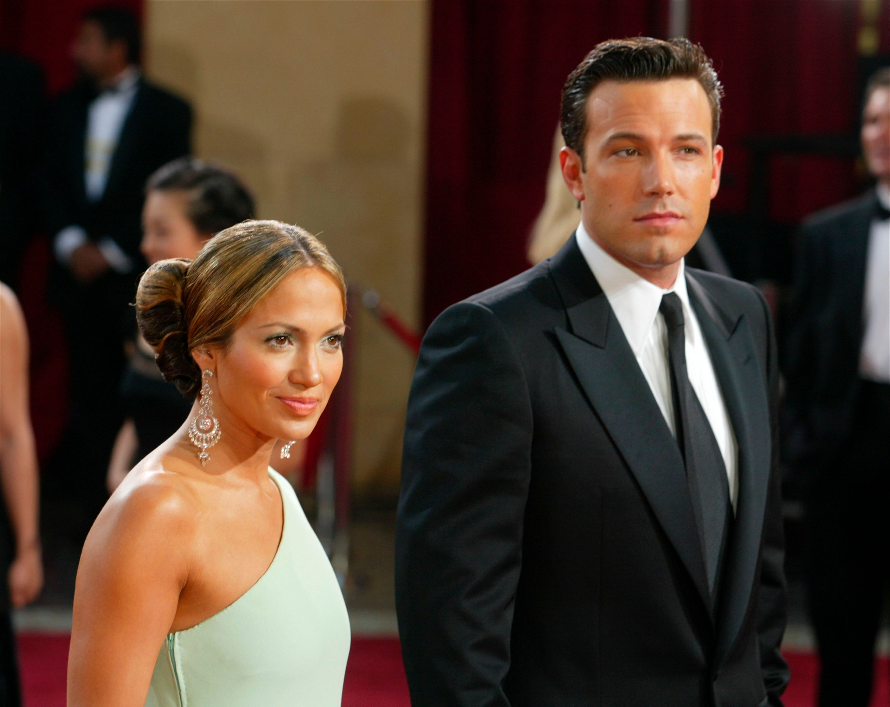 Jennifer Lopez and Ben Affleck atthe 75th Annual Academy Awards at the Kodak Theater on March 23, 2003, in Hollywood, California   Photo:Kevin Winter/Getty Images