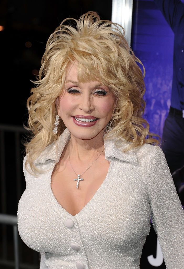 """Dolly Parton at the premiere of""""Joyful Noise""""on January 9, 2012, in Hollywood, California   Photo: Jason Merritt/Getty Images"""