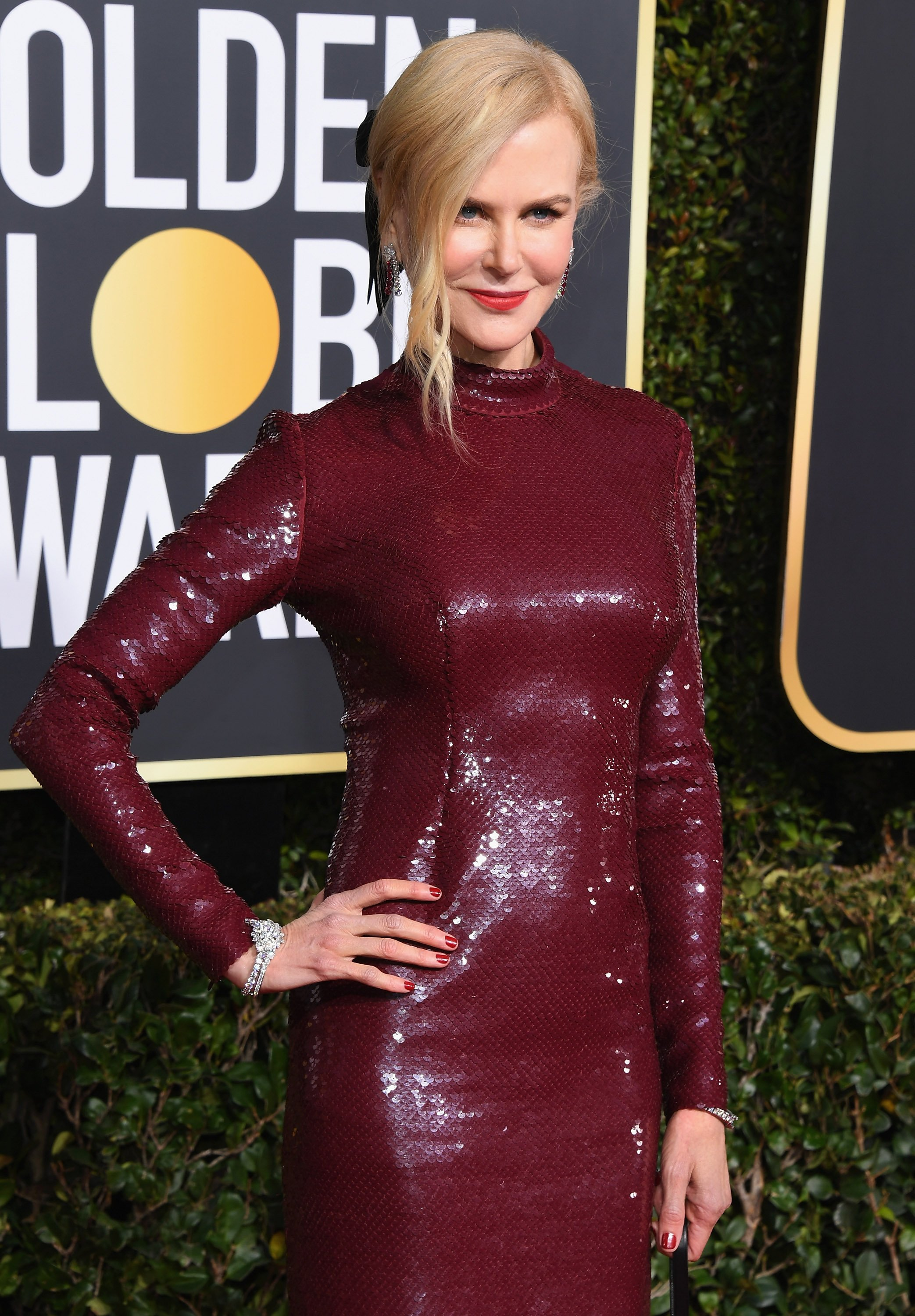 Nicole Kidman attends the 76th Annual Golden Globe Awards at The Beverly Hilton Hotel on January 6, 2019 in Beverly Hills, California | Photo: Getty Images