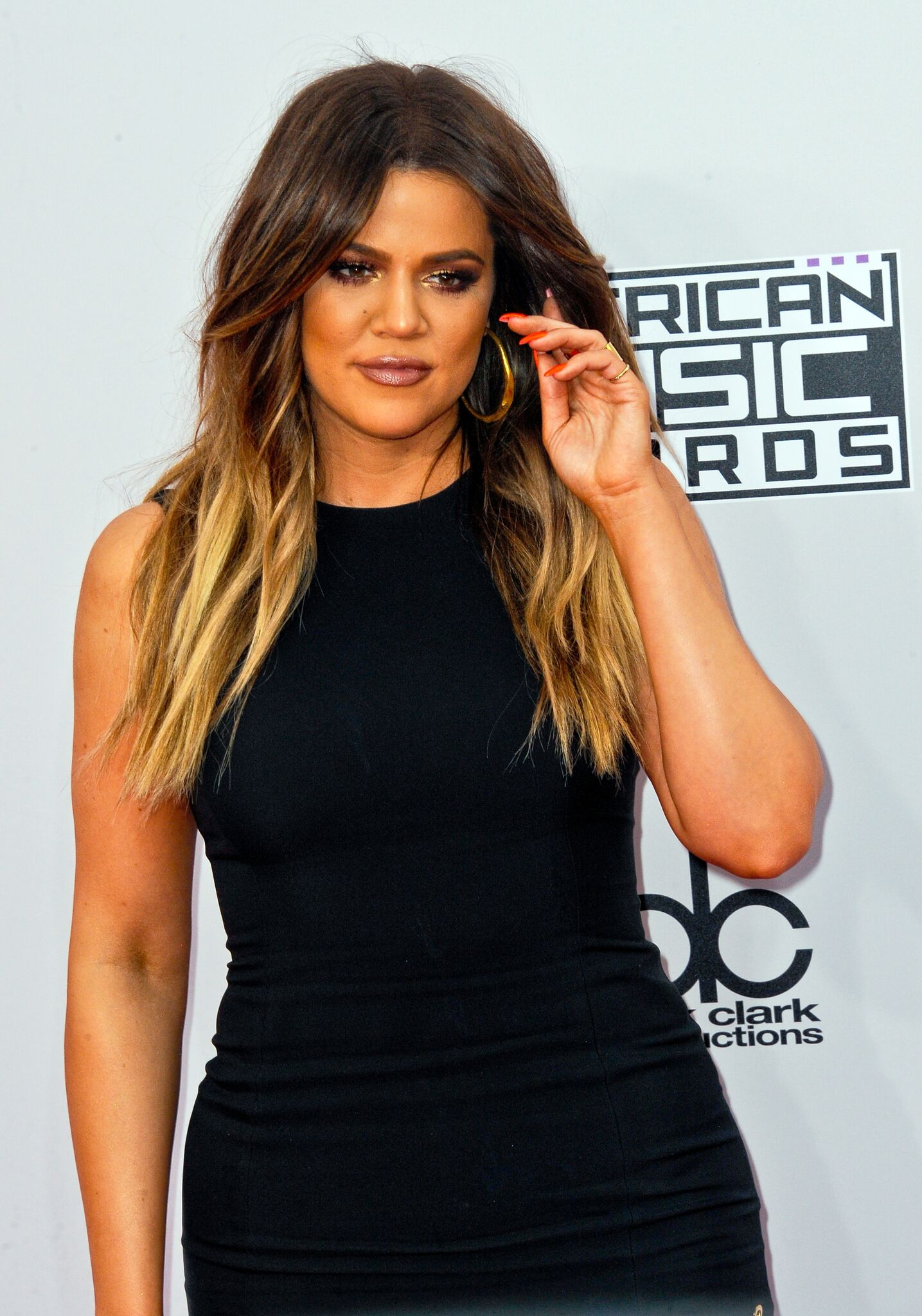 Khloe Kardashian arrives for the 42nd Annual American Music Awards held at Nokia Theatre L.A. Live | Getty Images