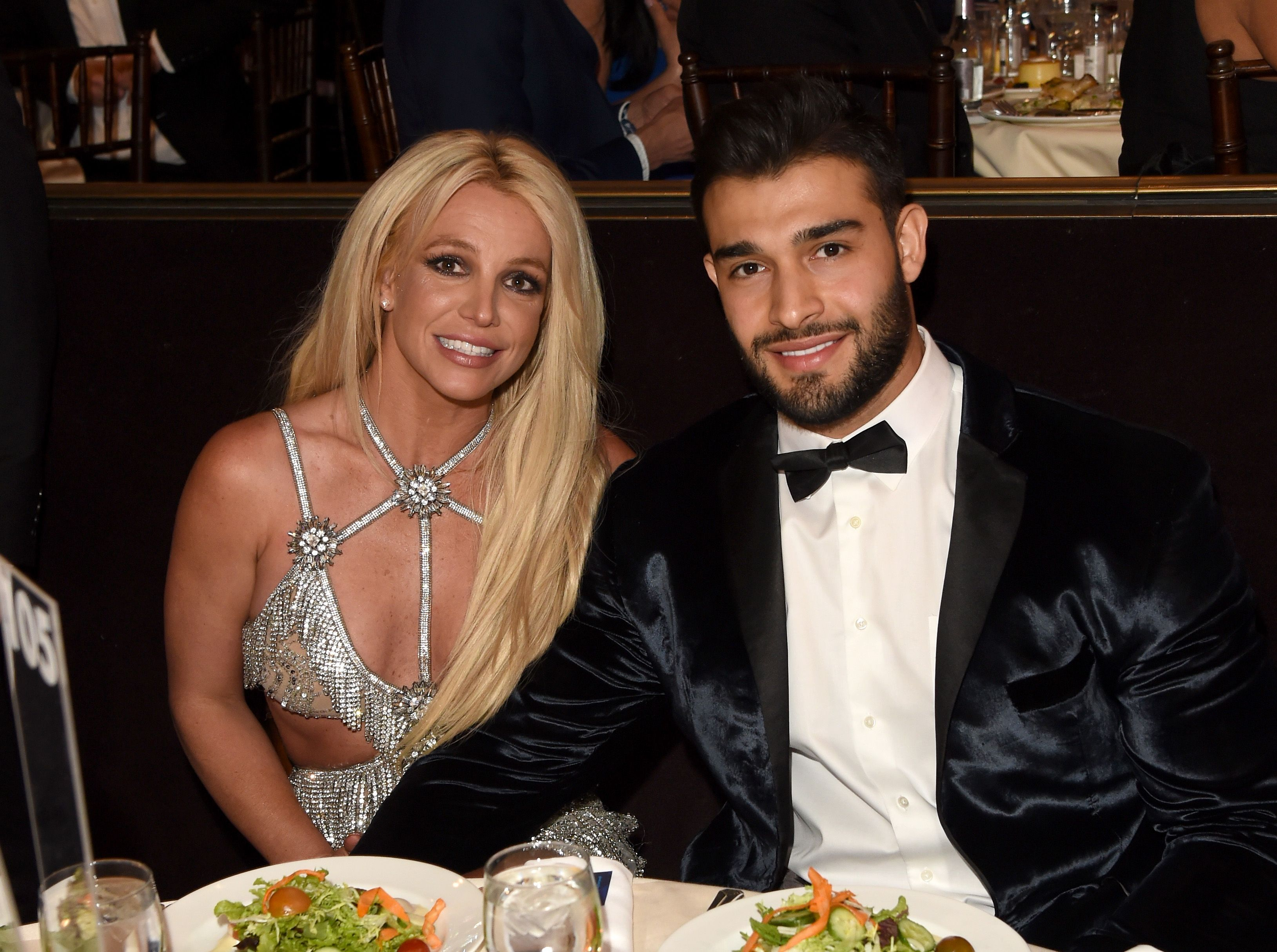 Honoree Britney Spears (L) and Sam Asghari at the 29th Annual GLAAD Media Awards at The Beverly Hilton Hotel on April 12, 2018 | Photo: Getty Images