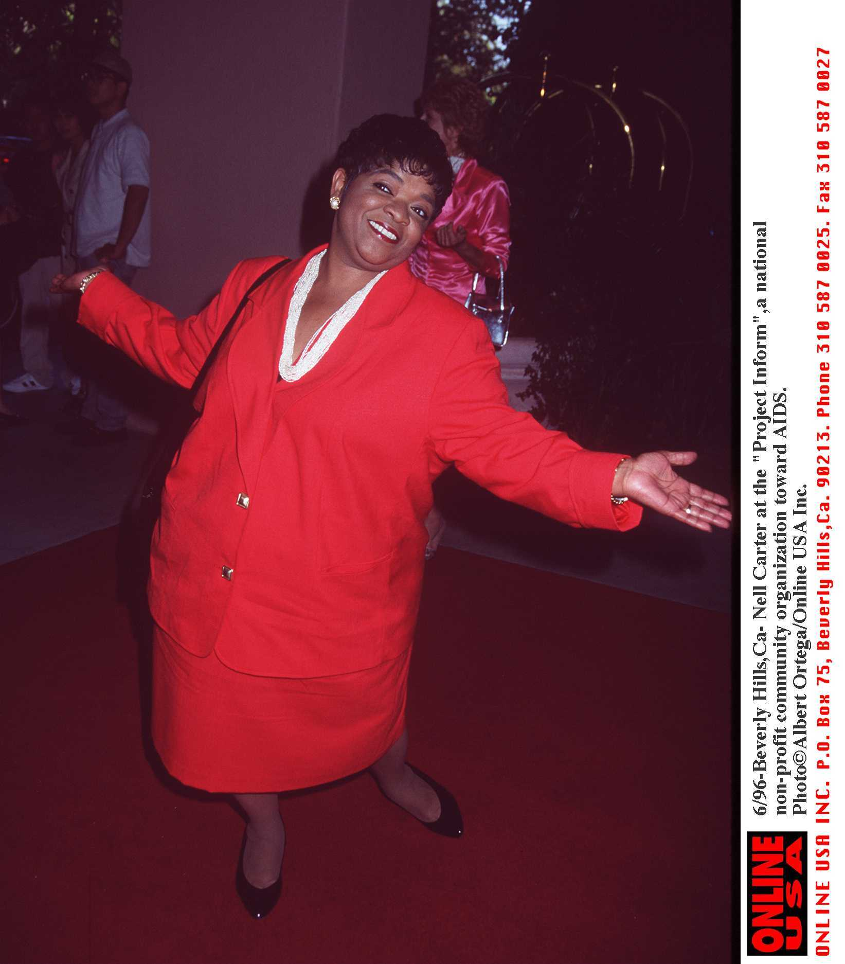 "Beverly Hills -Nell Carter at the ""Project Inform'' a organization to fight AIDS. 