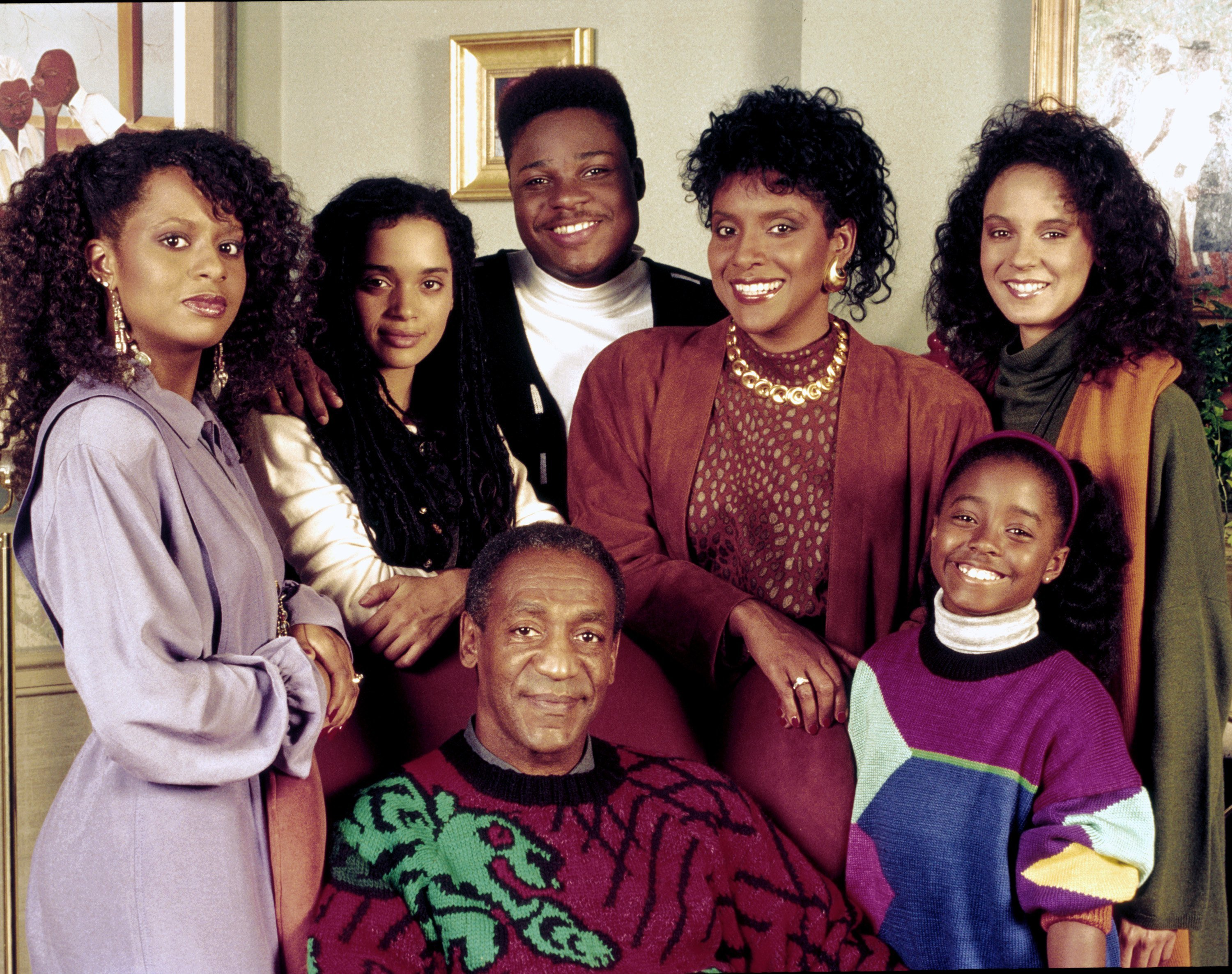 "Bill Cosby, Tempestt Bledsoe, Lisa Bonet, Malcolm-Jamal Warner, Phylicia Rashad, Keshia Knight Pulliam, and Sabrina Le Beauf. ""The Cosby Show"" Season 6 