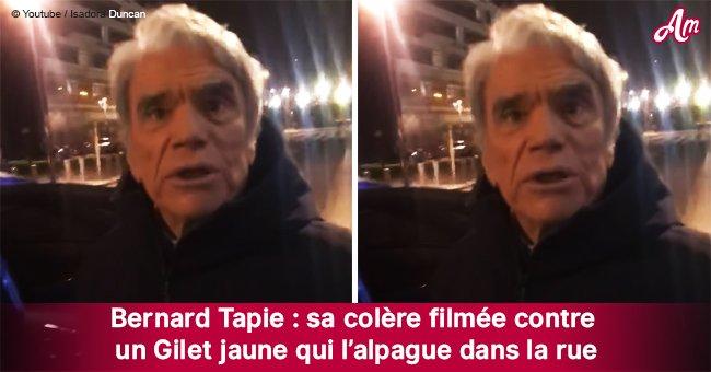 Bernard Tapie surpris dans la rue dans une discussion fâcheuse avec un gilet jaune