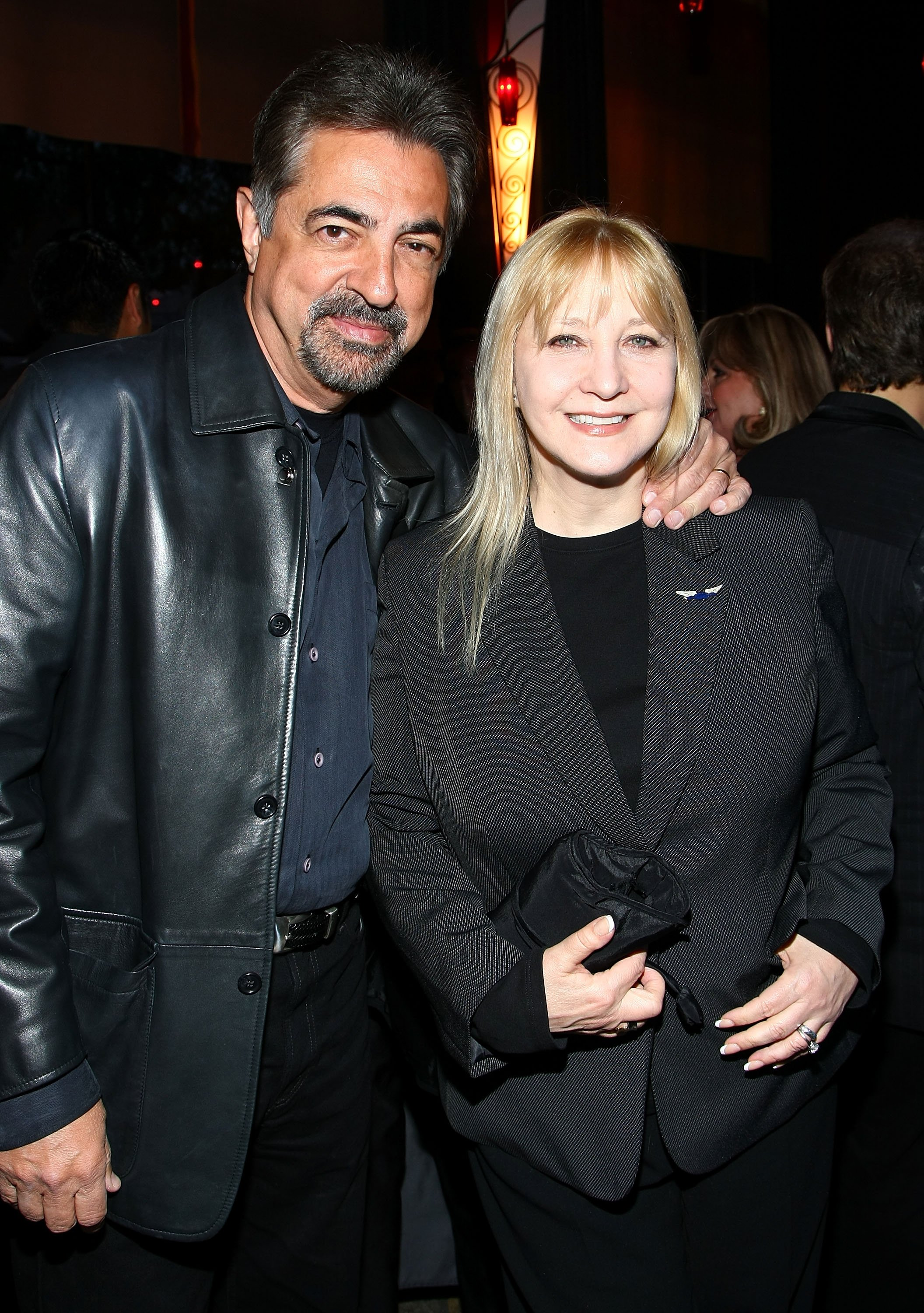 Joe Mantegna and wife Arlene Vrhel attend The Tonys Go Hollywood event. Getty Images