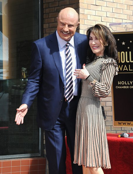 Dr. Phil McGraw and Robin McGraw at his Star On The Hollywood Walk Of Fame on February 21, 2020 in Hollywood, California. | Photo: Getty Images