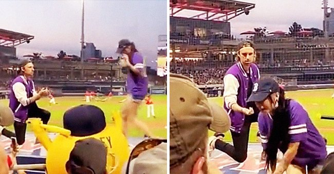 A man proposes to a woman at a baseball stadium but she runs away from him | Photo: Instagram/wtwmass