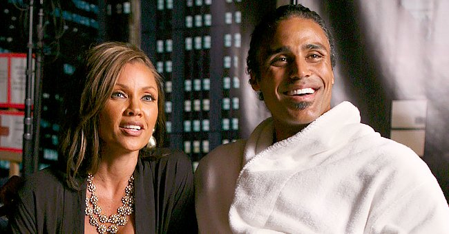 Rick Fox Challenges His Daughter with Vanessa Williams in Photo Showing off His Long Gray Hair