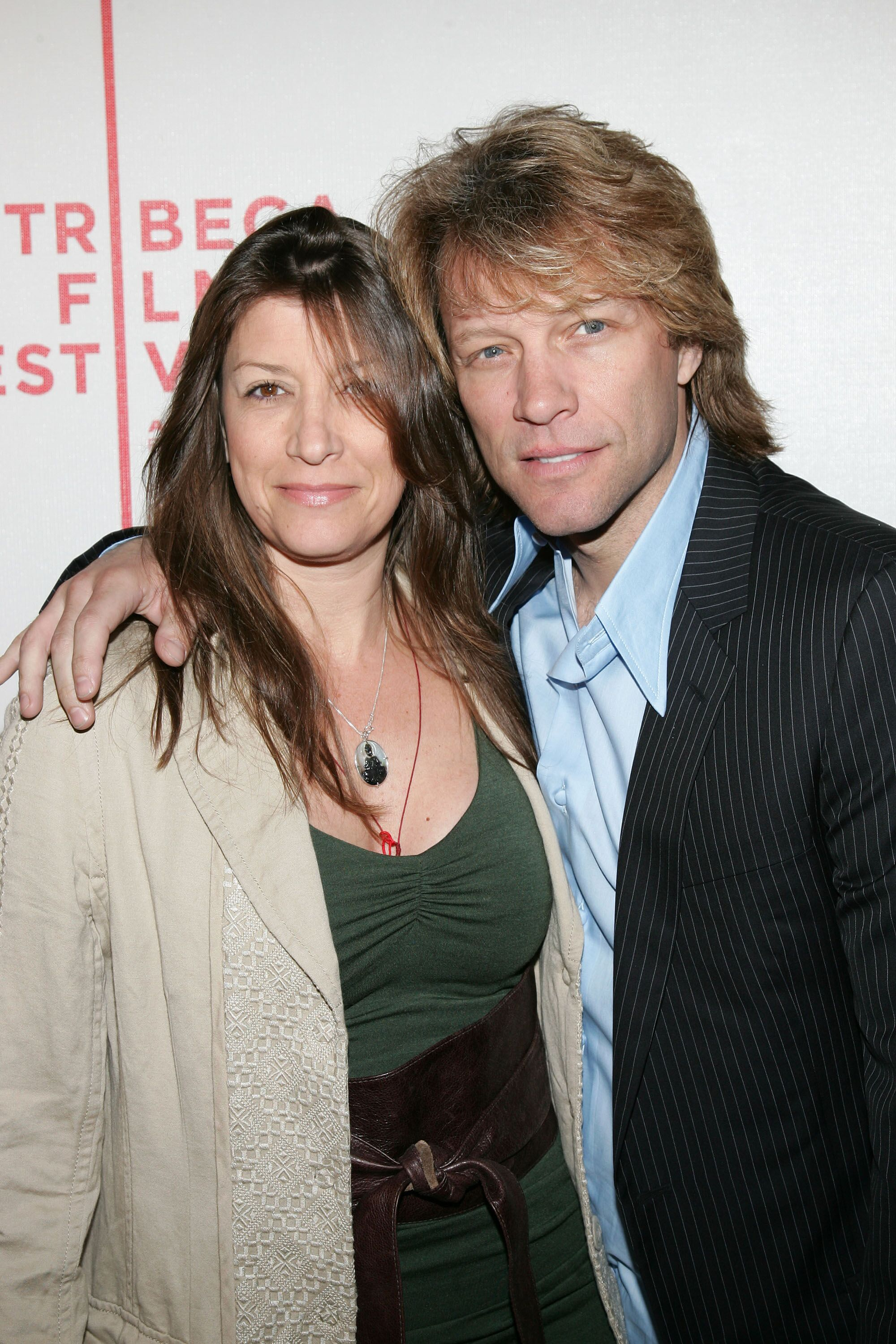 Bon Jovi and wife Dorothea Hurley at the 2007 Tribeca Film Festival. | Source: Getty Images