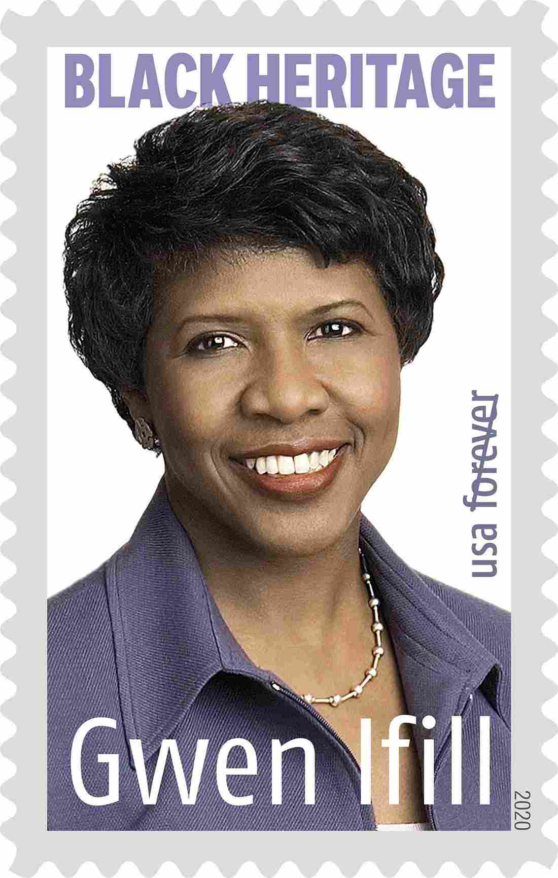 Gwen Ifill's very own stamp created by the US Postal Service | Source: Twitter / USPS