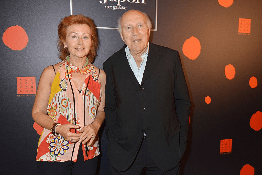 "PARIS, FRANCE - 02 SEPTEMBRE : Ludivine Clerc et Michel Piccoli participent au vernissage de l'exposition ""Japan Rive Gauche"" au Bon Marché le 2 septembre 2014 à Paris, France. 