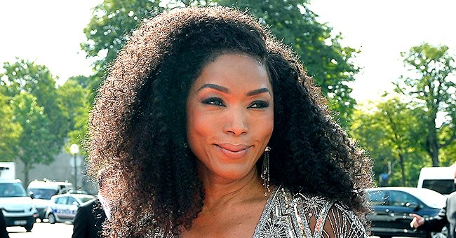 Angela Bassett Turns Heads in Red and White Dolce & Gabbana Suit Showing Perfect Makeup in Pics