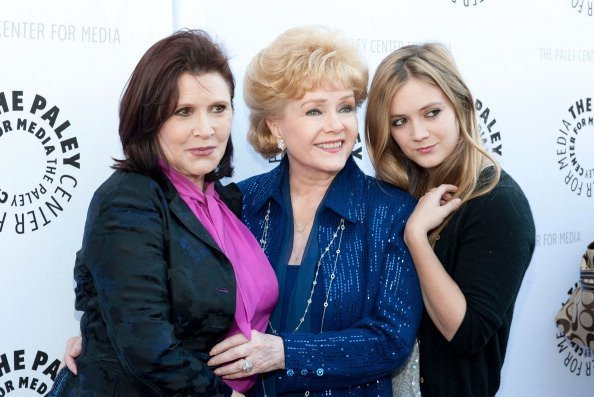Carrie Fisher, Debbie Reynolds, and Billie Lourd at The Paley Center For Media & TCM Present Debbie Reynolds' Hollywood Memorabilia Exhibit Reception on June 7, 2011 in Beverly Hills, California | Photo: Getty Images