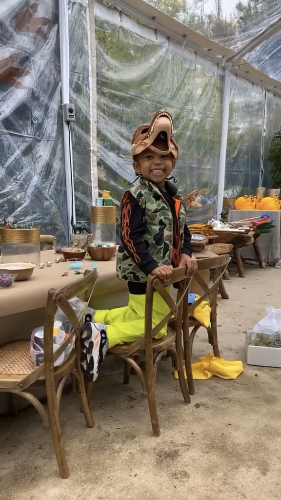 Saint West at his Jurassic birthday party/ Source: Instagram/Kim Kardashian/Stories