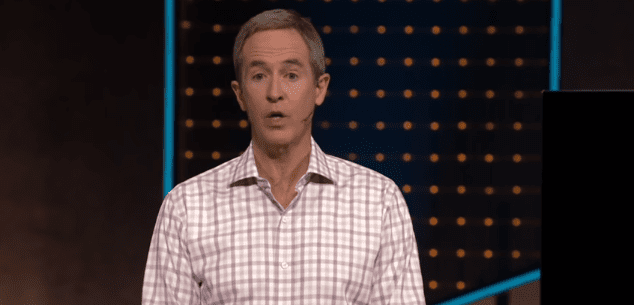 Andy Stanley during a speech shared on YouTube on May 18, 2020   Photo: YouTube/Andy Stanley