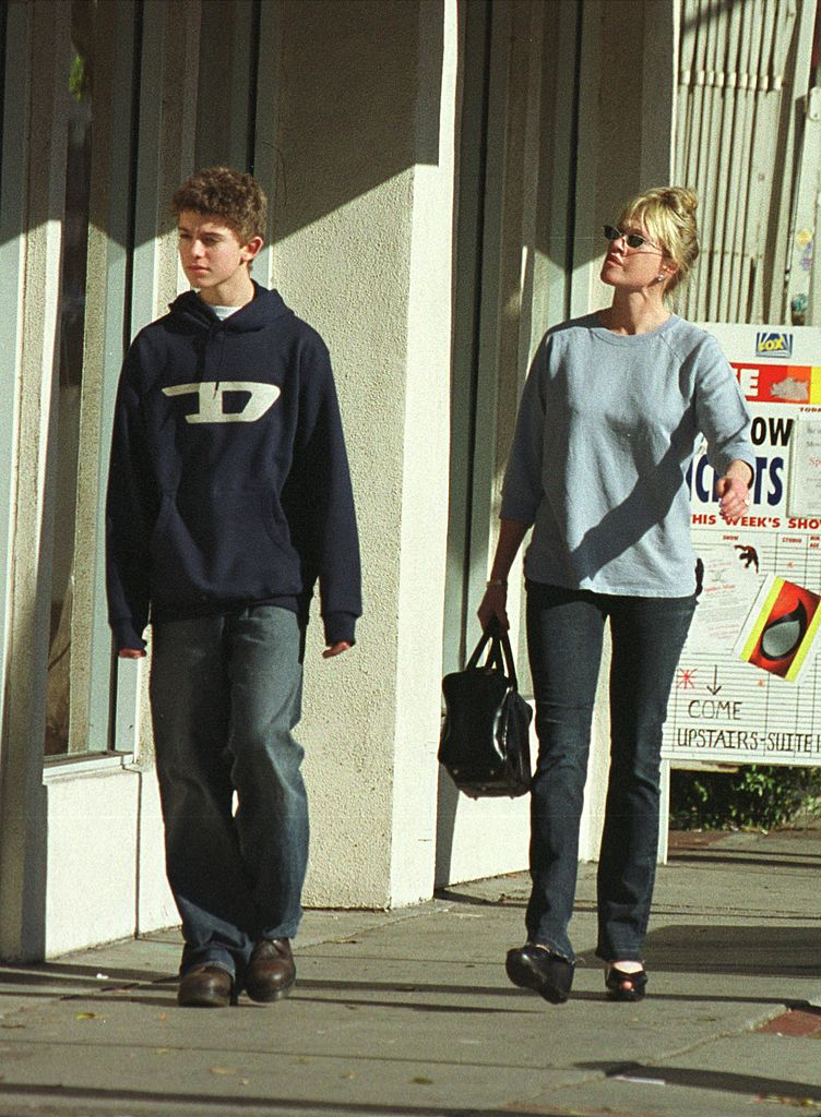 Melanie Griffith spends a day shopping with her son, Alexander | Getty Images