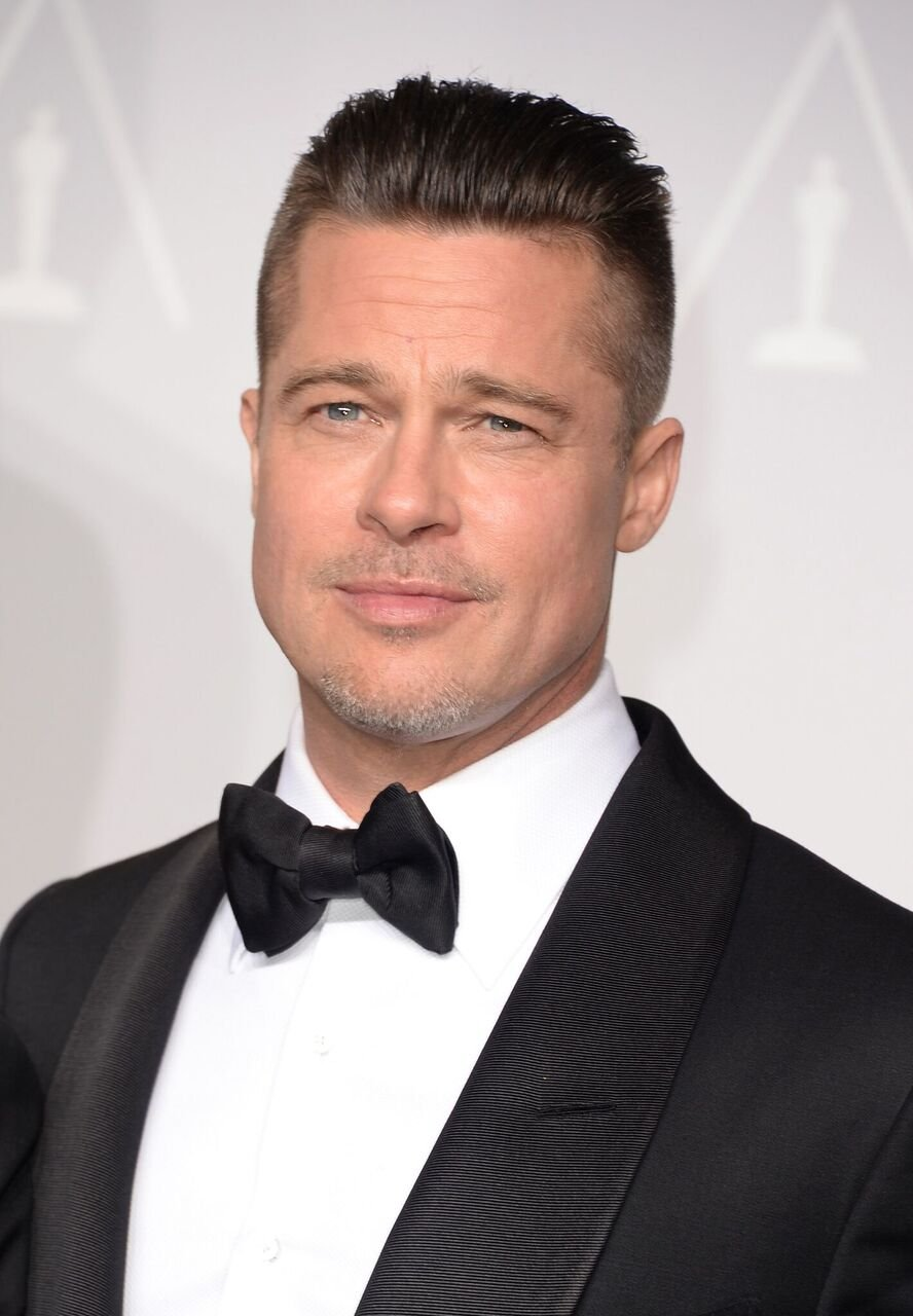 """Brad Pitt, winner of Best Picture for """"12 Years a Slave"""", poses in the press room during the Oscars at Loews Hollywood Hotel on March 2, 2014 in Hollywood, California. 