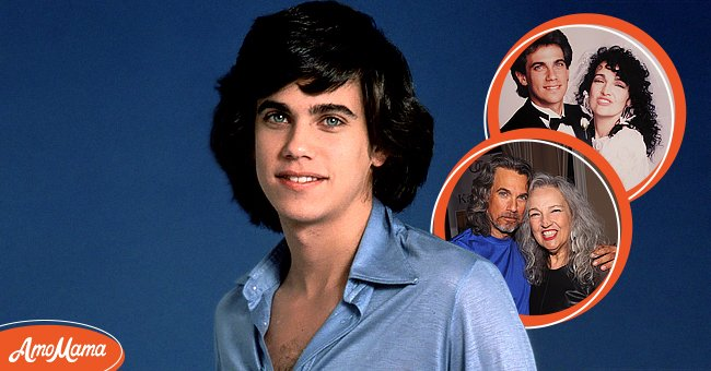 Left: Robby Benson - studio portrait circa 1978 in New York City. Right: Robby Benson and his wife Karla DeVito at their wedding and below at Chiller Theatre Expo, in New Jersey, 2015. | Source: Getty Images