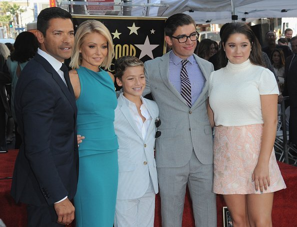Mark Consuelos, Kelly Ripa, Joaquin Consuelos, Michael Consuelos and Lola Consuelos at the Kelly Ripa Star Ceremony on The Hollywood Walk Of Fame | Photo: Getty Images
