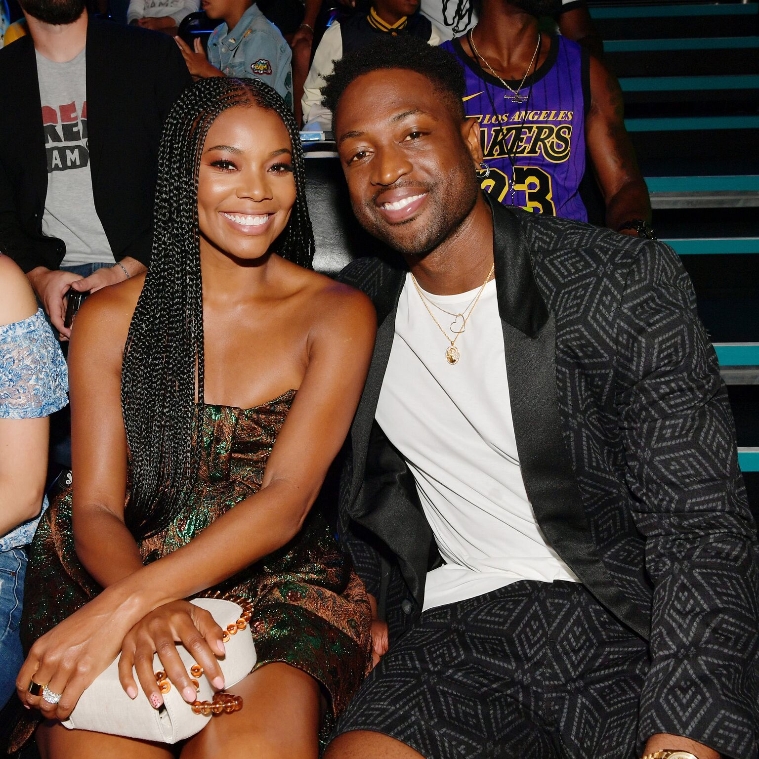 Gabrielle Union and Dwyane Wade attend Nickelodeon Kids' Choice Sports 2019 at Barker Hangar | Getty Images