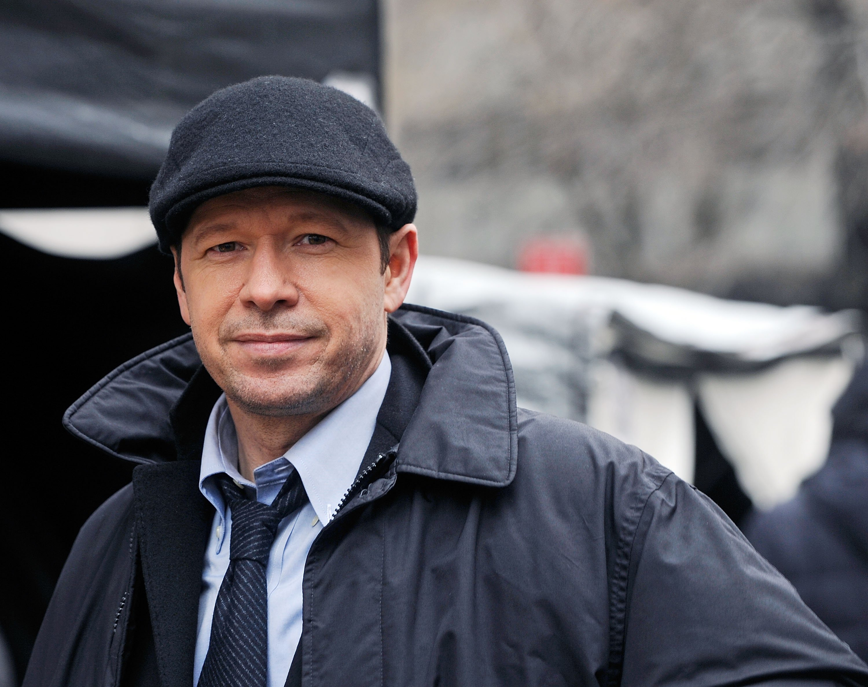 """Donnie Wahlberg filming on location for """"Blue Bloods""""on March 1, 2012 in New York 