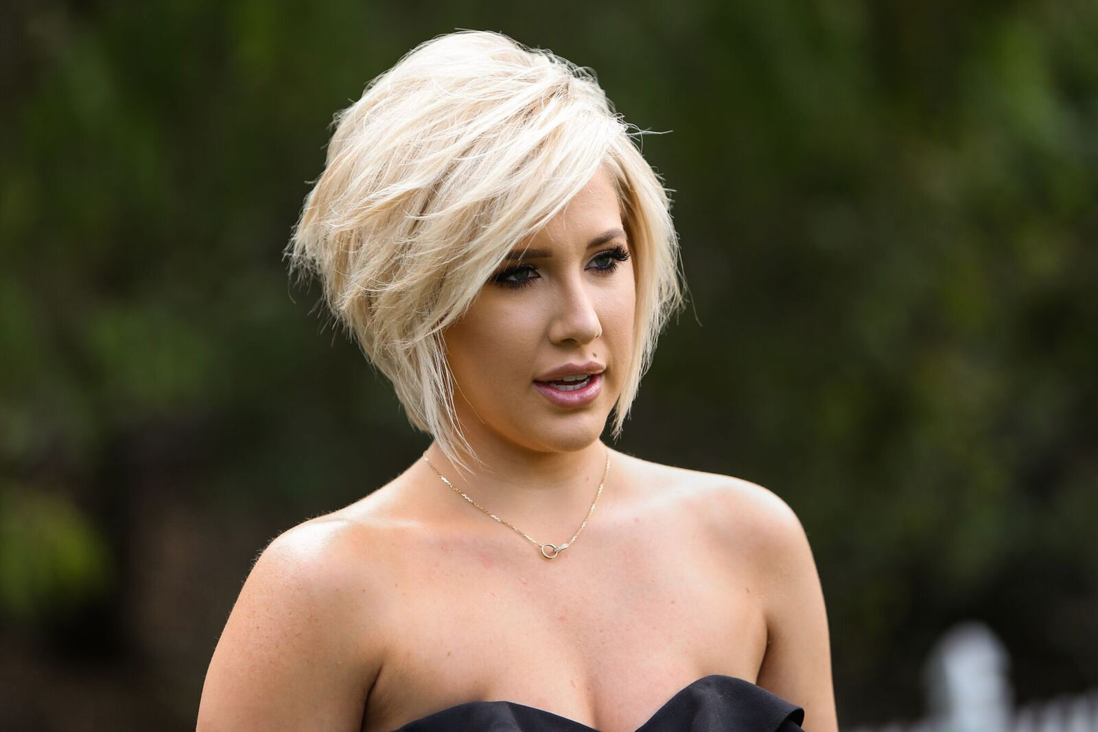 """Reality TV star Savannah Chrisley visits Hallmark's """"Home & Family"""" at Universal Studios Hollywood on March 27, 2019 in Universal City, California. 