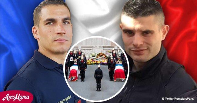 Les deux pompiers morts qui ont sauvé 20 personnes à Paris reçoivent un hommage émouvant en leur mémoire
