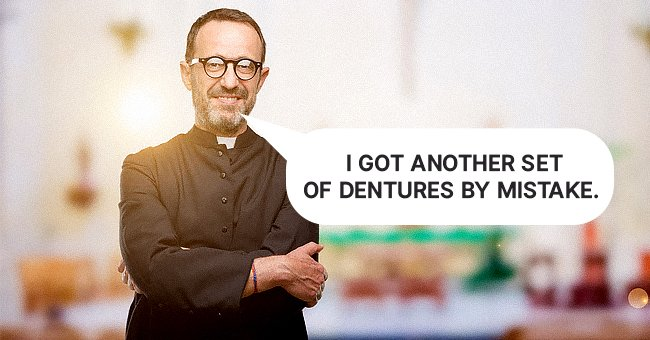 The pastor showed up to preach with his new set of false teeth. | Photo: Shutterstock