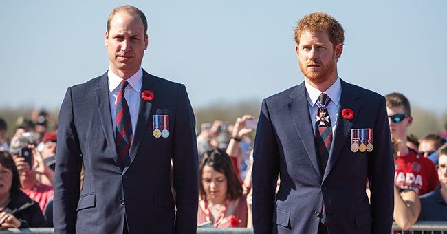 Prince William and Prince Harry pictured at the Canadian National Vimy Memorial, 2017, Vimy, France. | Photo: Getty Images