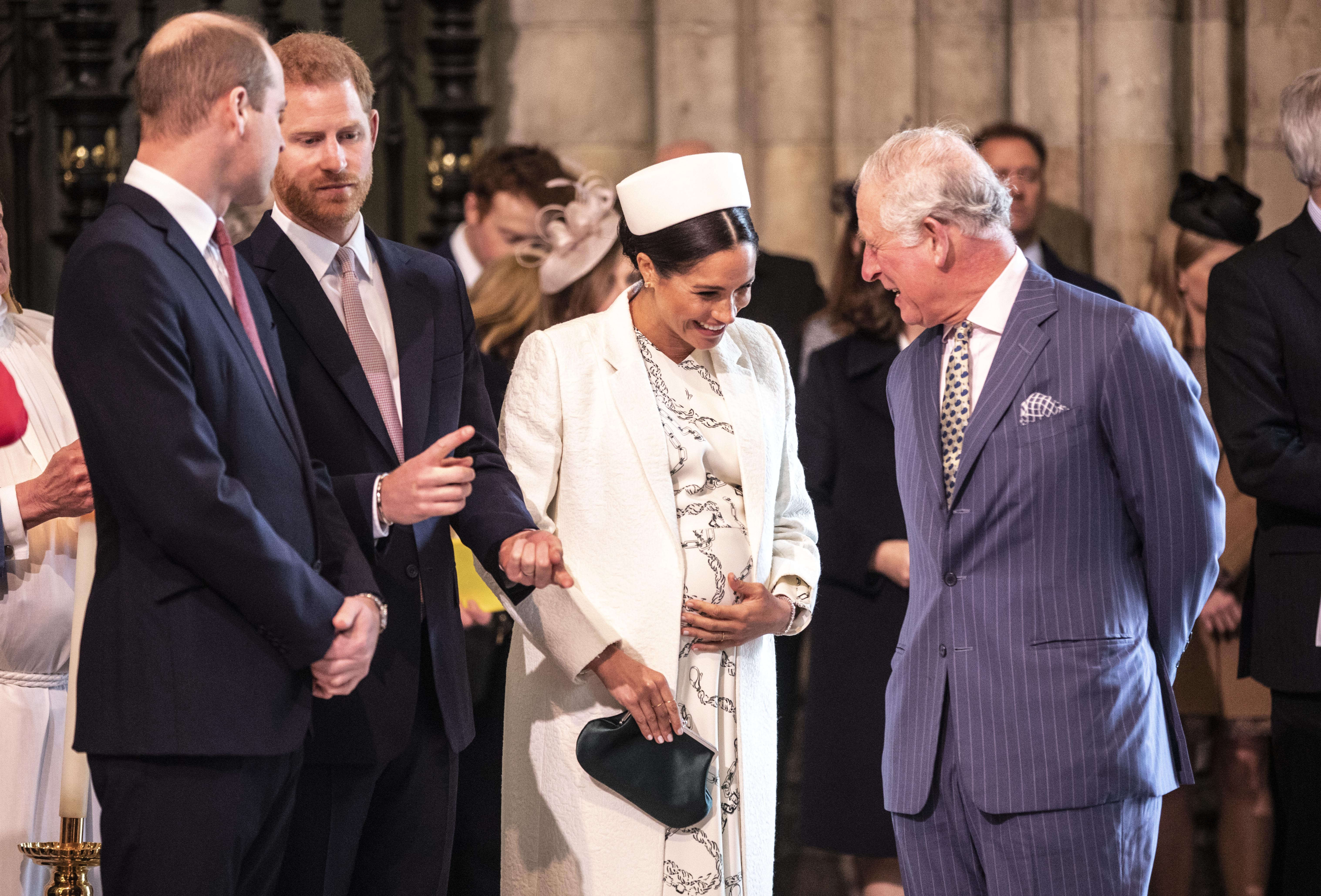 Meghan Markle talks with Prince Charles at the Westminster Abbey Commonwealth day service on March 11, 2019 in London, England | Photo: Getty Images