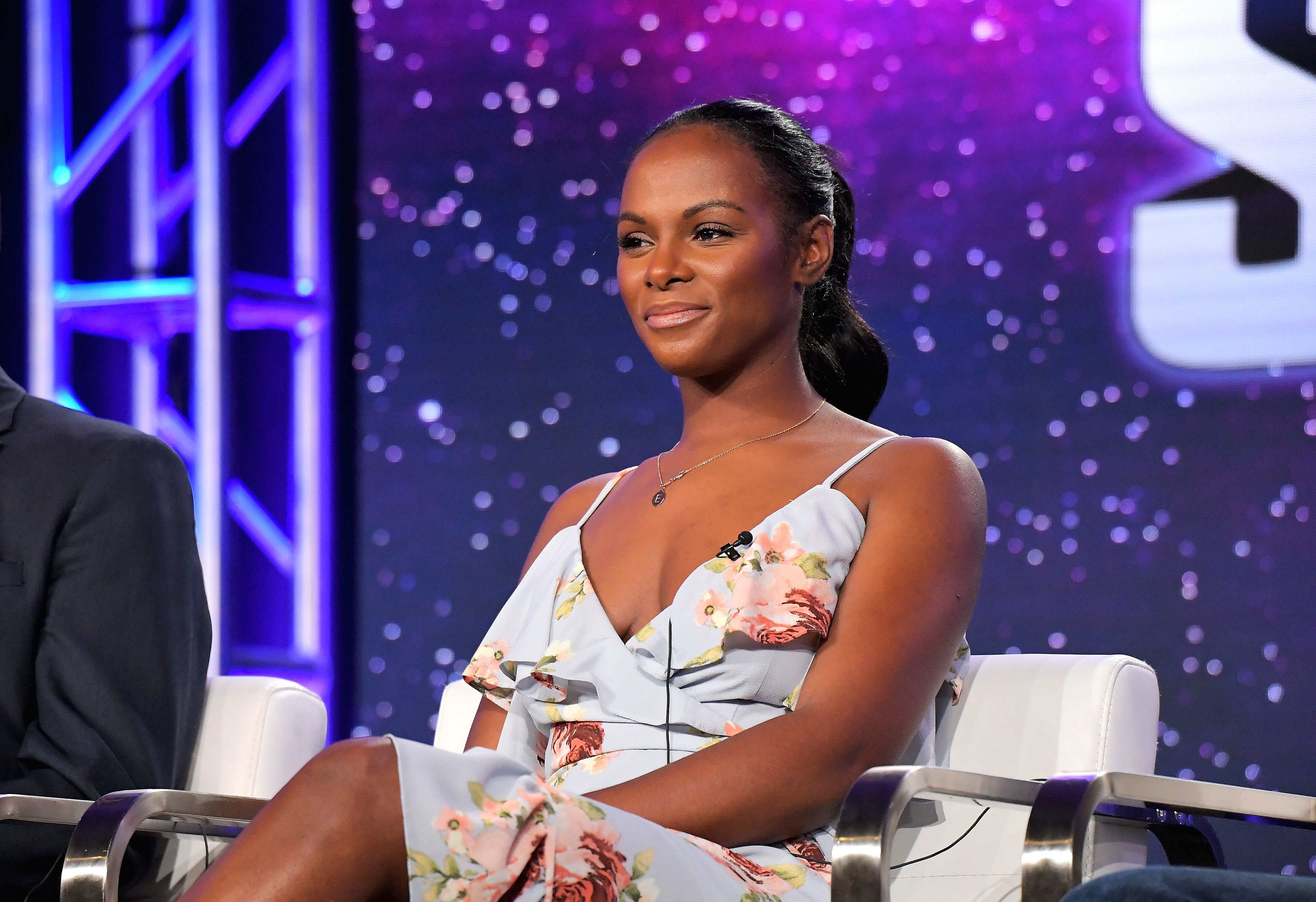 Tika Sumpter during the TCA Turner Winter Press Tour 2018 Presentation on January 11, 2018. | Source: Getty Images