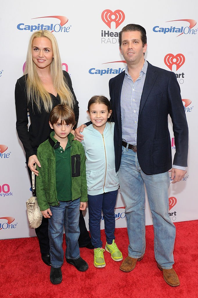 Donald Trump Jr., wife Vanessa Haydon, and children Kai Madison and Donald John III attend Z100's Jingle Ball 2015 at Madison Square Garden.   Source: Getty Images