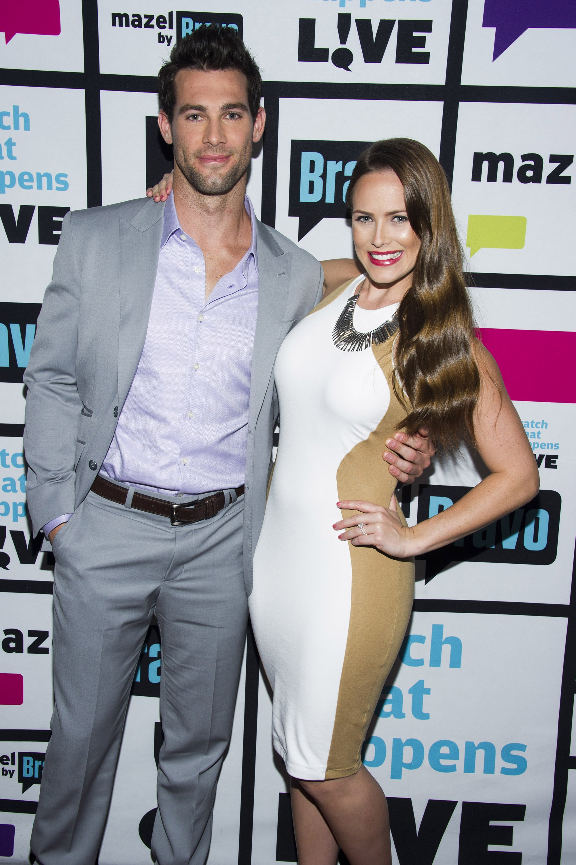 """Shane and Kara Keough pose at """"Watch What Happens Live"""" during season 10 on June 25, 2013   Photo: Getty Images"""