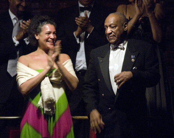 Bill Cosby, Ed.D. and daughter Erin Cosby (L) watch the Gala Concert before Cosby accepted the Marian Anderson Award April 6, 2010, at The Kimmel Center for the Performing Arts in Philadelphia, Pennsylvania. | Source: Getty Images.
