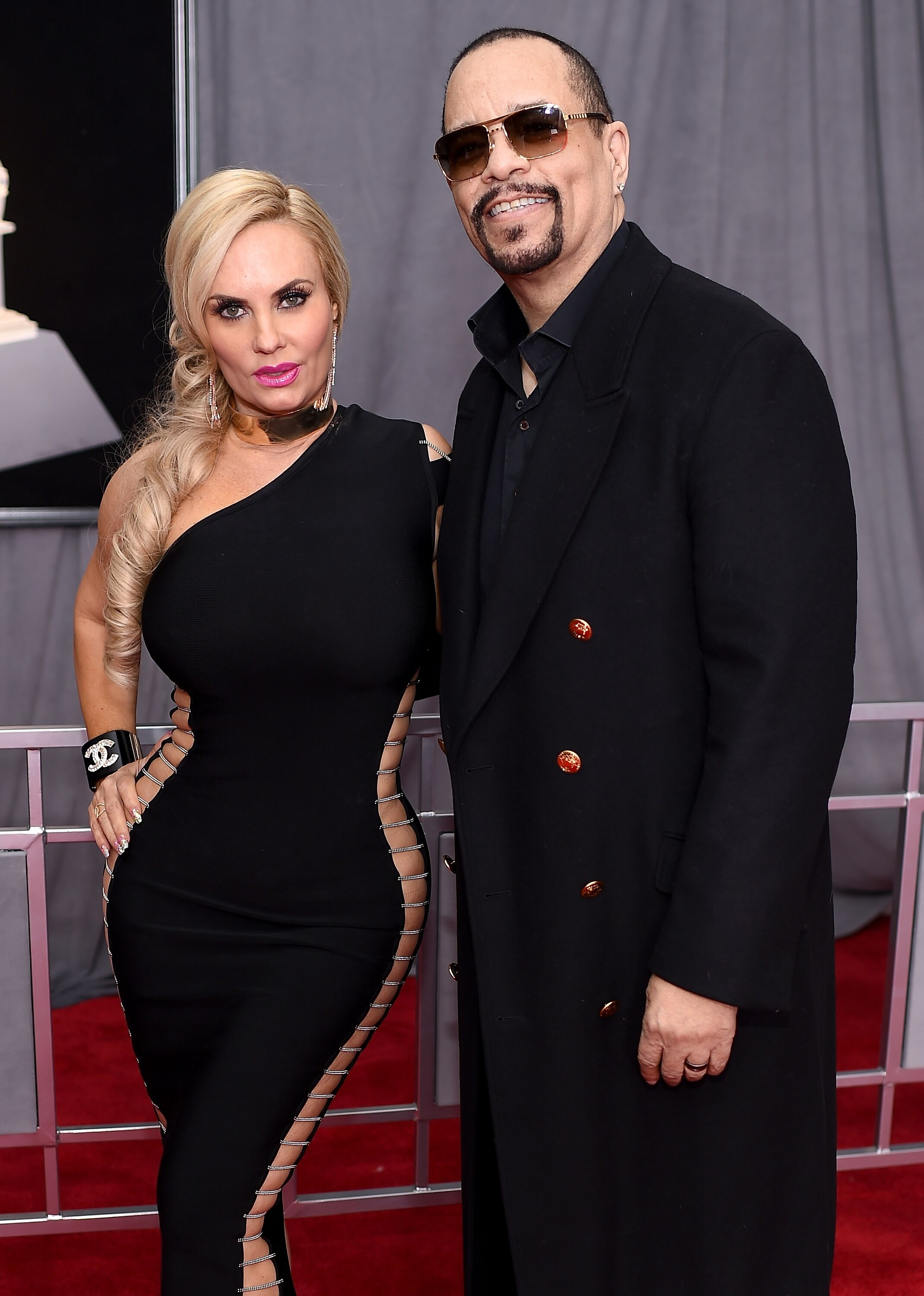 Coco Austin and Ice-T at the 60th Annual GRAMMY Awards at Madison Square Garden. | Source: Getty Images