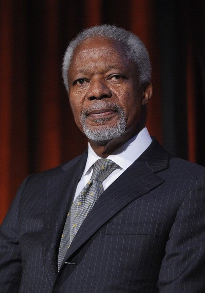 Kofi Annan at Cipriani 42nd Street on October 16, 2012 in New York City. | Photo: Getty Images