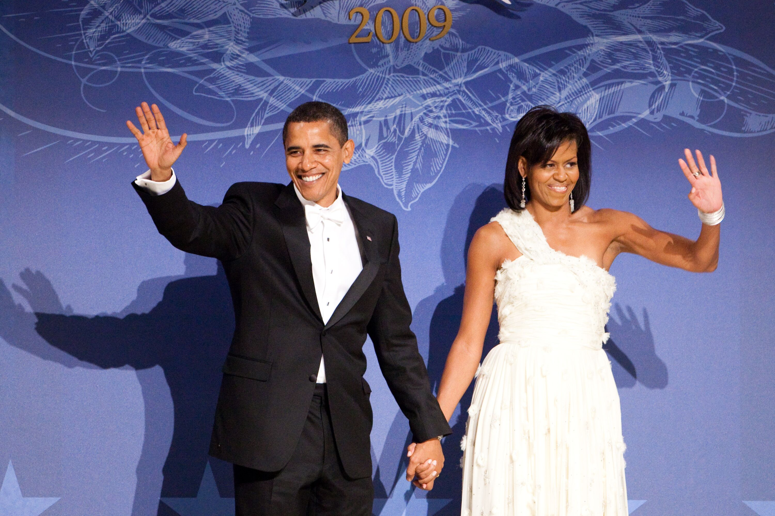 Barack and Michelle Obama at the 2009 Inaugural Ball/ Source: Getty Images