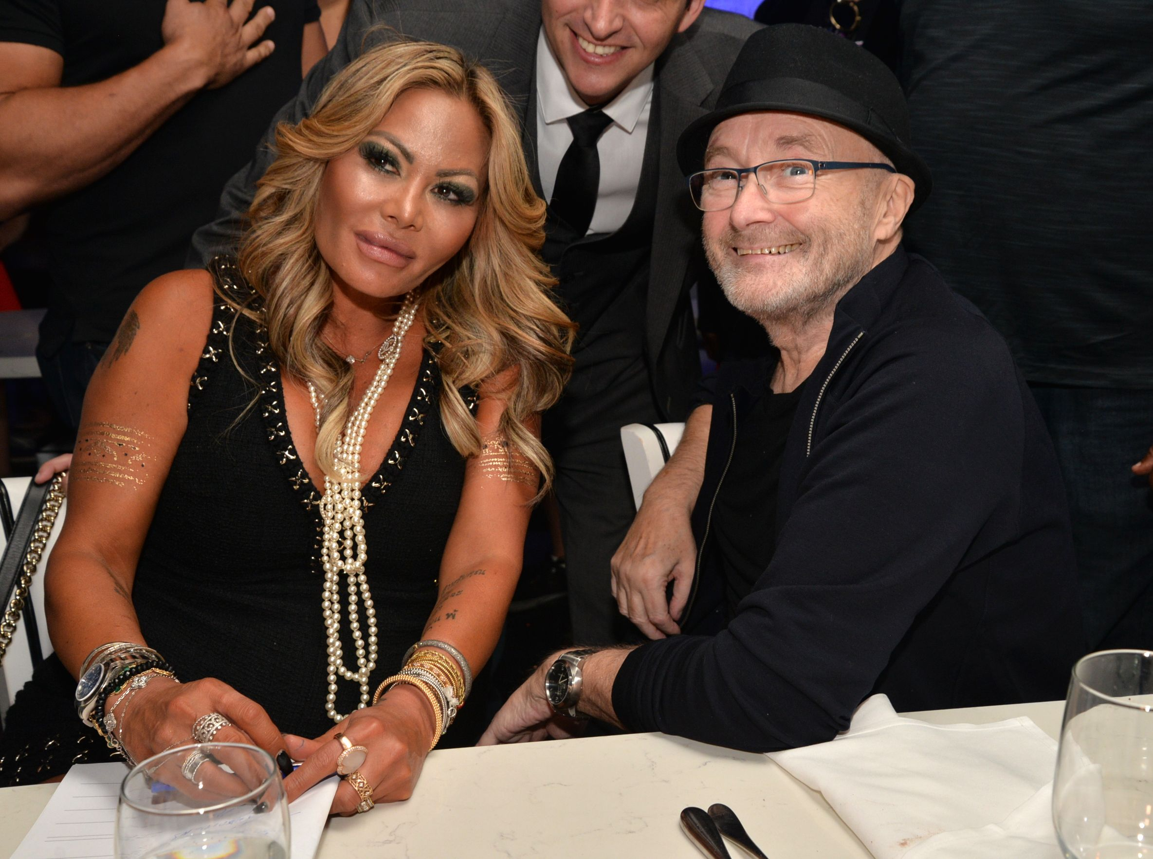 Orianne Cevey and Phil Collins at Little Dreams Foundation Music Auditions in Design District on September 20, 2017 | Photo: Getty Images