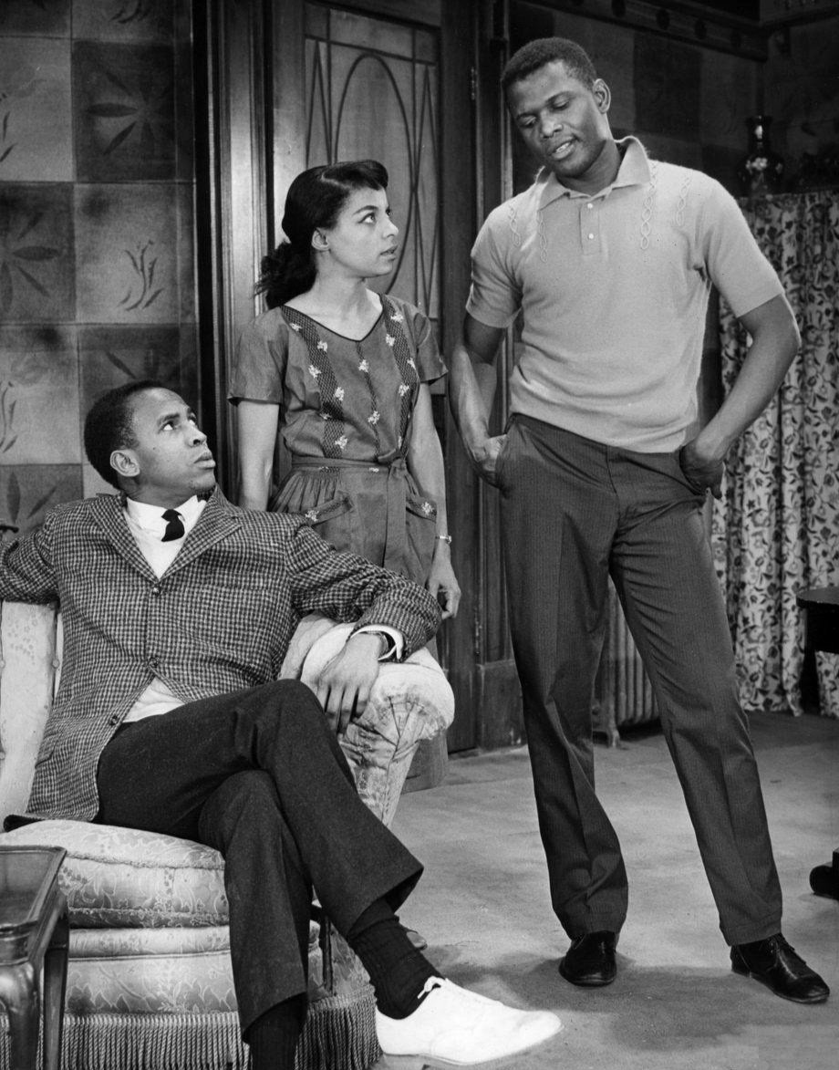"""From left-Louis Gossett, Ruby Dee, and Sidney Poitier in a scene from the play """"A Raisin in the Sun."""" 