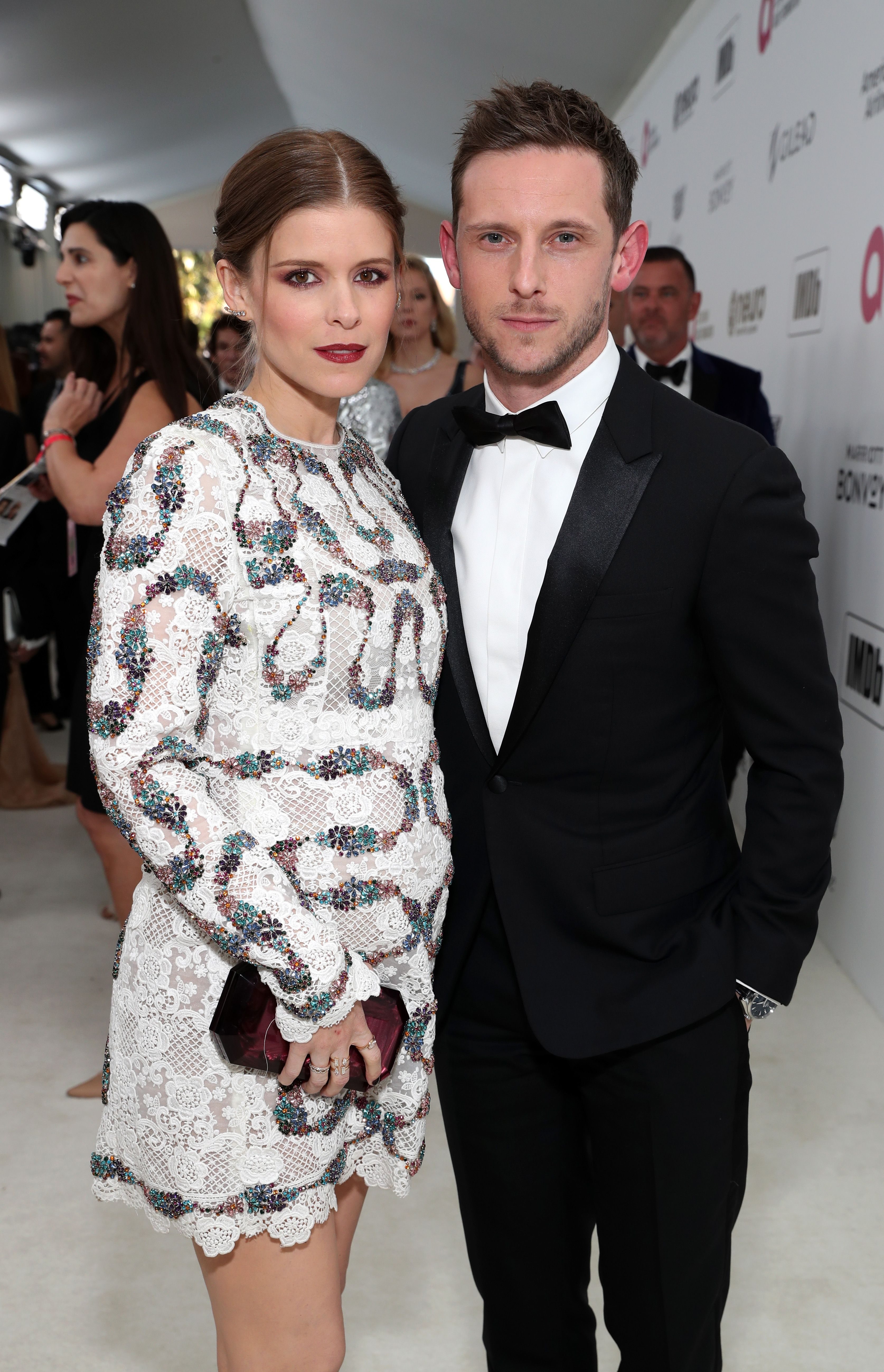 Kate Mara and Jamie Bell at the 27th annual Elton John AIDS Foundation Academy Awards Viewing Party sin February 2019 in West Hollywood, California | Source: Getty Images
