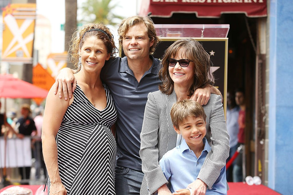 Sally Field and her sons' Eli Craig family at the ceremony honoring her with a Star on The Hollywood Walk of Fame on May 5, 2014 in Hollywood, California   Photo: Getty Images