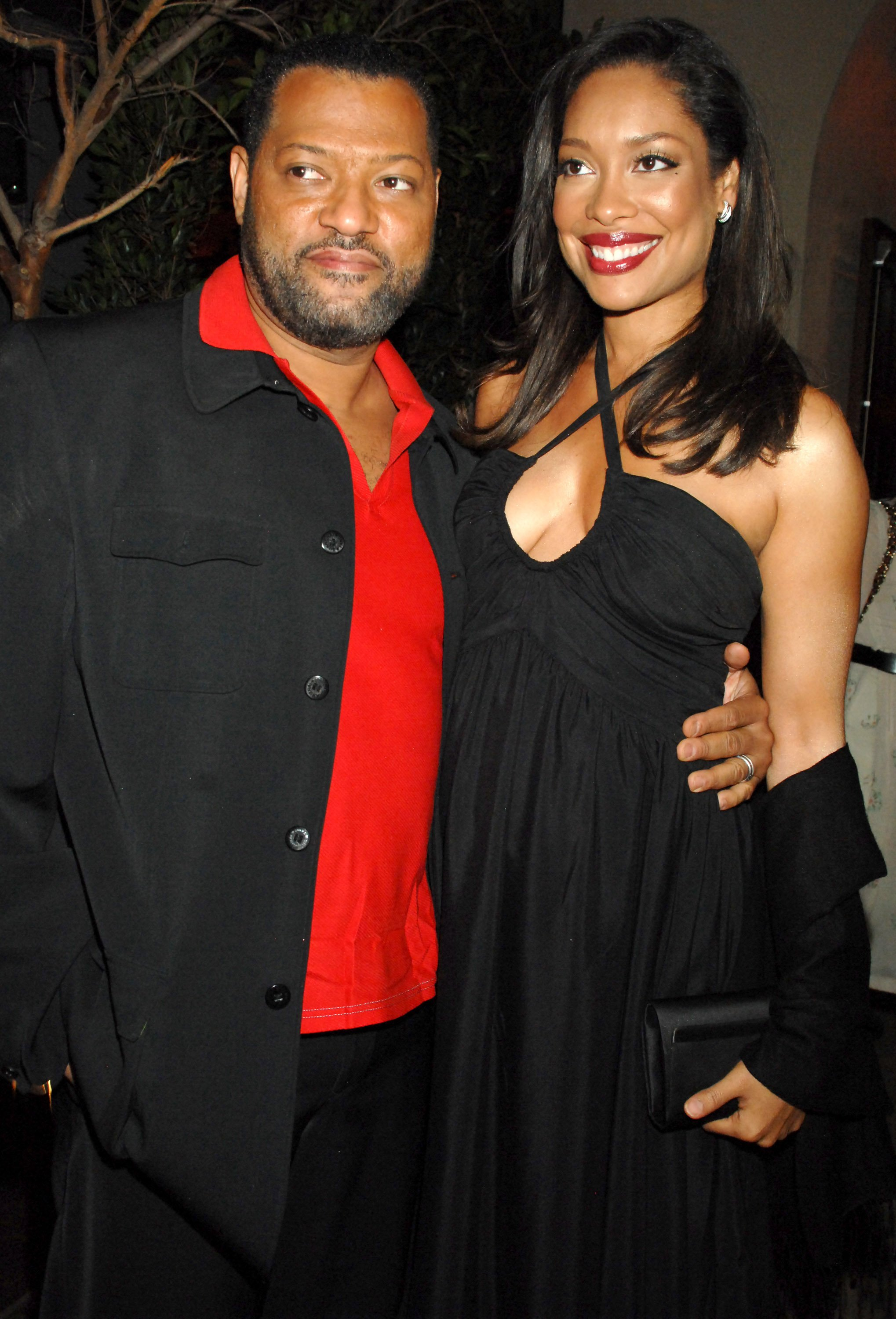"""Laurence Fishburne and Gina Torres during """"I Think I Love My Wife"""" Los Angeles Premiere - After Party, March 8, 2007 