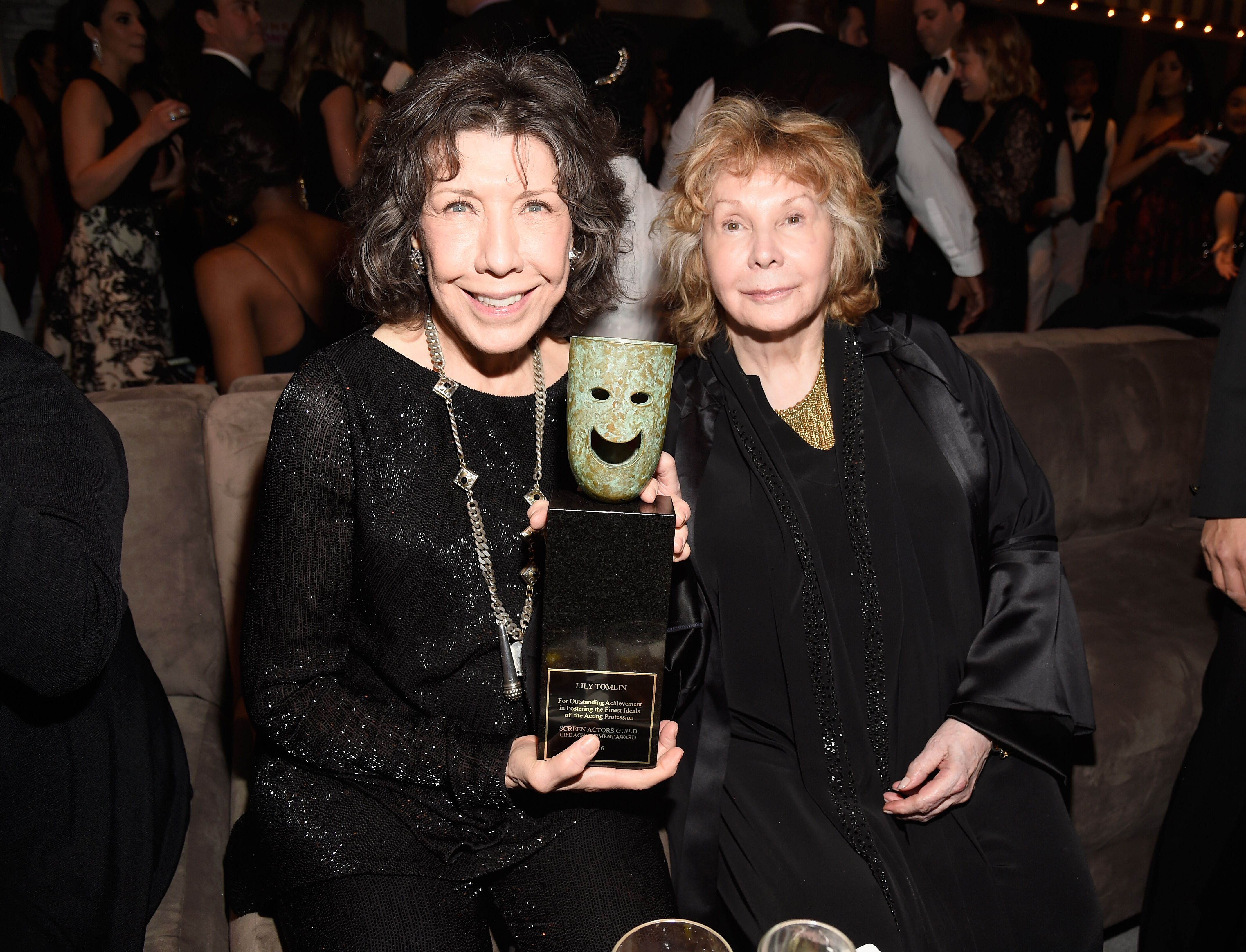 Lily Tomlin and Jane Wagner attend People And EIF's Annual Screen Actors Guild Awards Gala. | Source: Getty Images