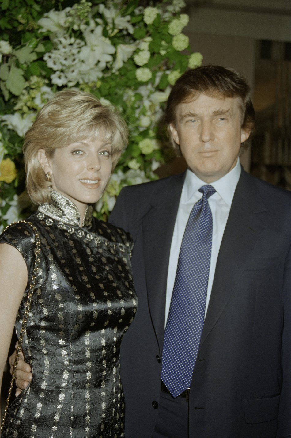 Donald Trump with his second wife, Marla Maples, at Claridge's hotel, London, to host a launch event for his New York hotel, the Trump International Hotel and Tower, 4th June 1996   Photo: GettyImages