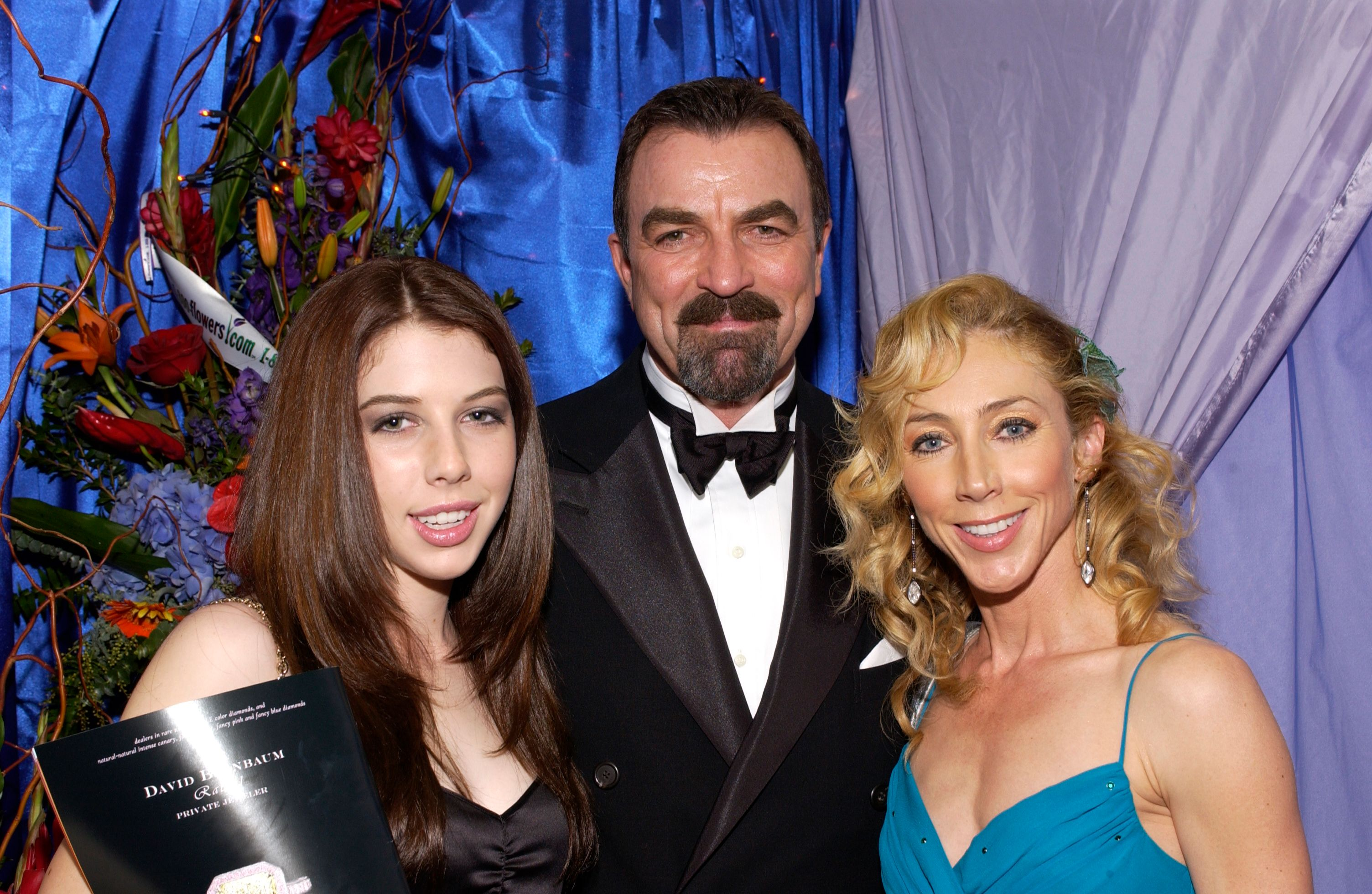 Tom Selleck, daugher Hannah and wife Jillie Mack at the Distinctive Assets Gift Lounge during the People?s Choice Awards on January 9, 2005 in Pasadena, California Photo: Getty Images
