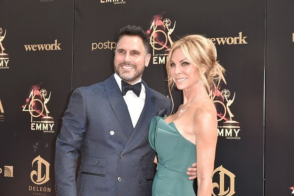 Don Diamont and Cindy Ambuehl at the 46th annual Daytime Emmy Awards on May 05, 2019 | Photo: Getty Images
