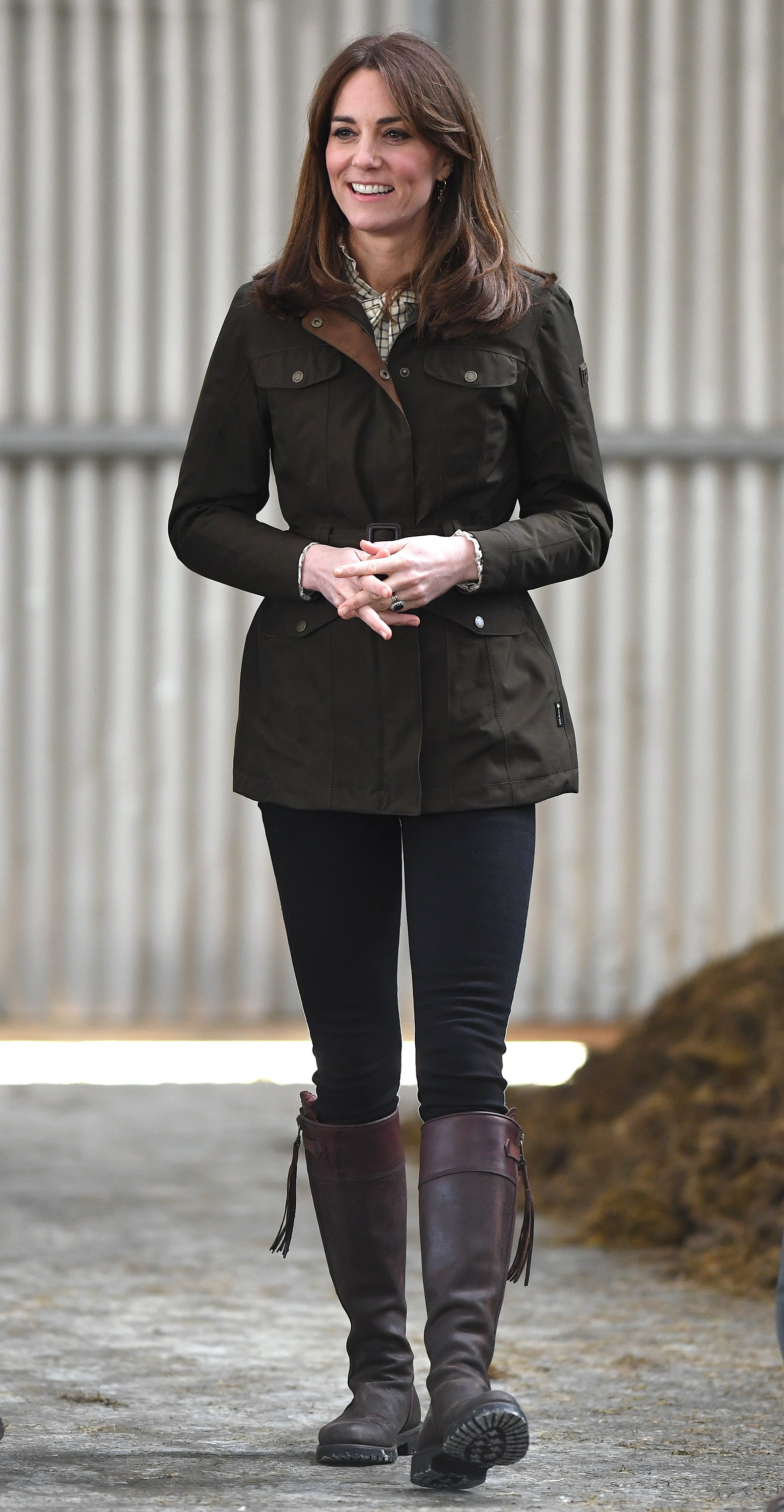 Kate Middleton pictured in her boots at Teagasc Research Farm' in 2020, Carlow, Ireland. | Photo: Getty Images